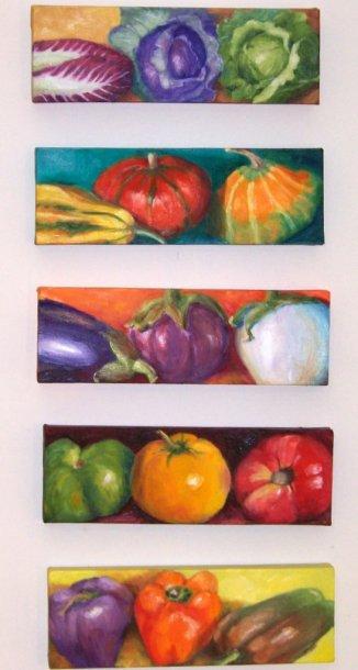Eat Your Veggies Series, Oil, 4x10, *
