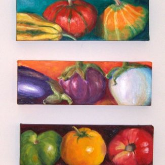 Eat Your Veggies Series, Oil, 4x10, *