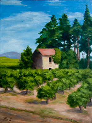 Provence Vineyard, Oil, 12x16