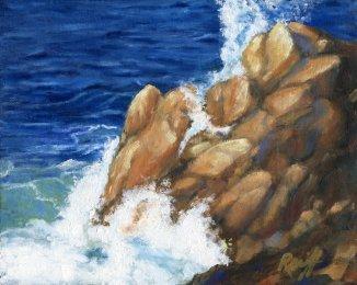 Incoming Tide, Oil, 8x10