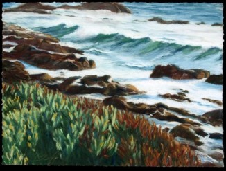 Incoming Tide, Pastel, 20x22