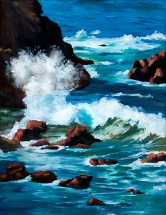 Rocky Coast II, Oil, 14x18