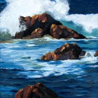 Rocky Coast I, Oil, 14x18