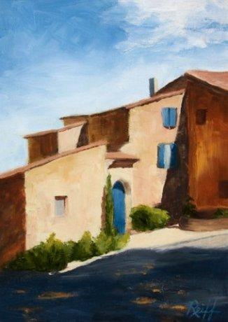In the Village of Arles, Oil, 12x16