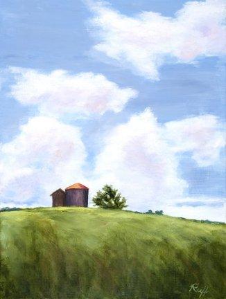 Silo in the Sky, Oil, 14x18