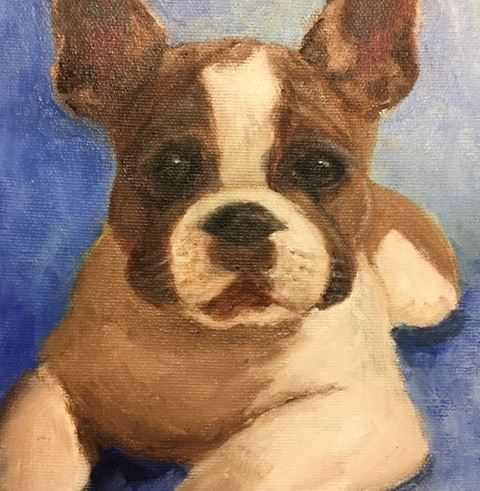 "Portrait of Ruby 6"" x 8"" oil on canvas"